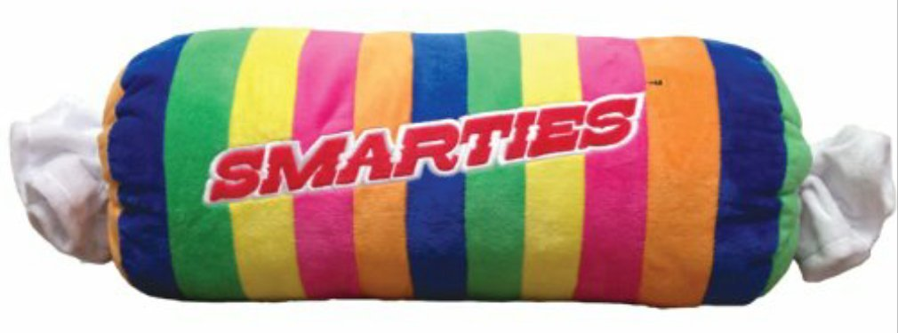 Classic Candy Smarties Fleece Pillow