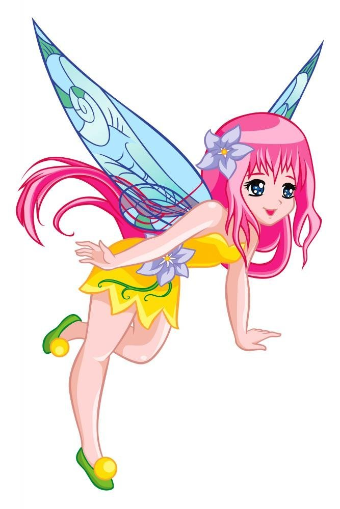 Cute Flying Fairy Wall Decal