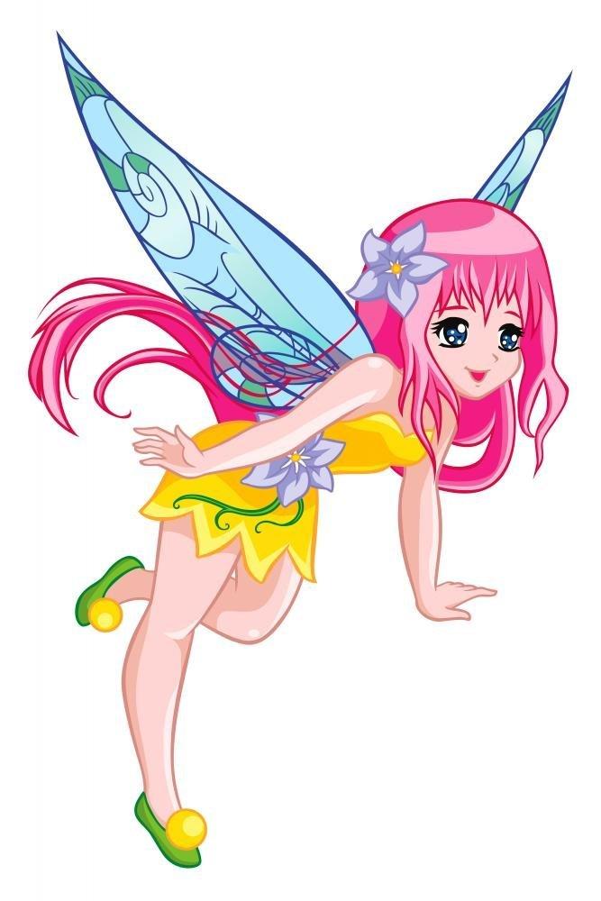 Cute Flying Fairy Wall Decal