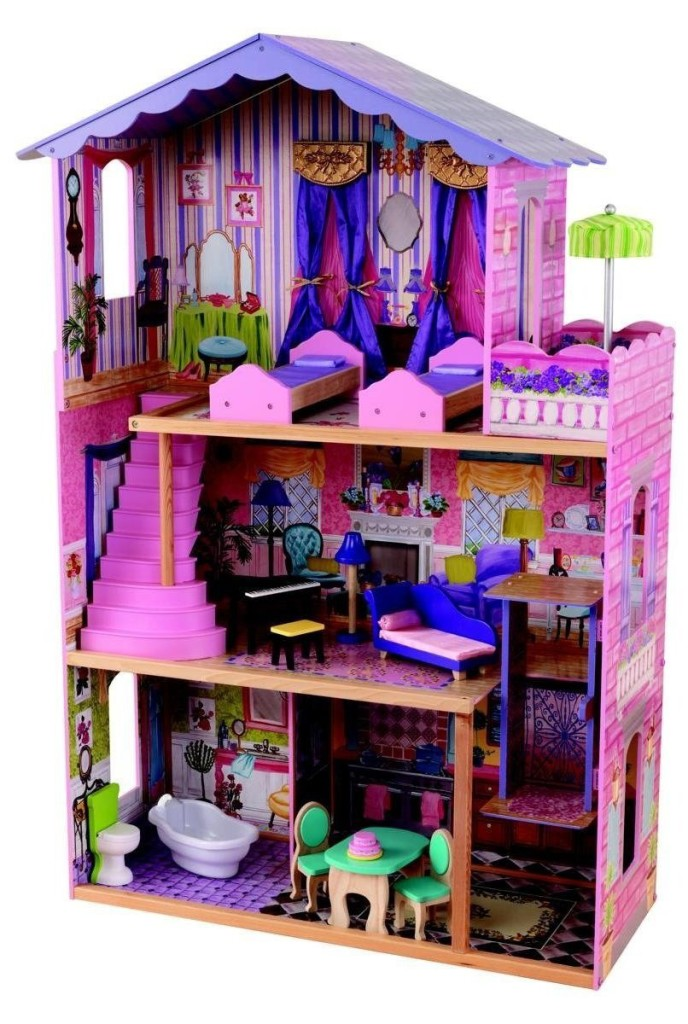 KidKraft My Dream Mansion Wooden Dollhouse with New Gliding Elevator