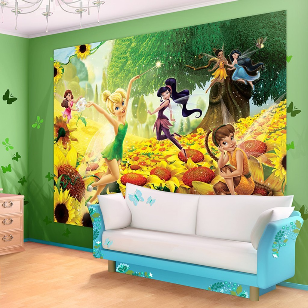 Disney Fairies Sunflowers Wallpaper Mural