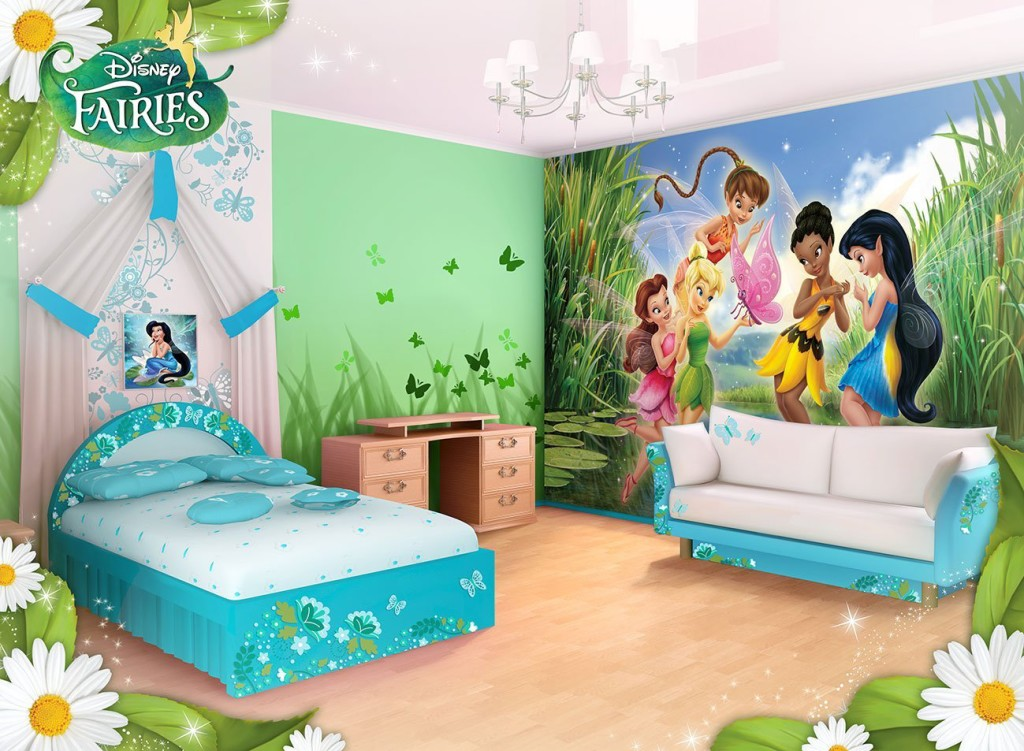 Beautiful Disney Fairies Lake Wallpaper Mural