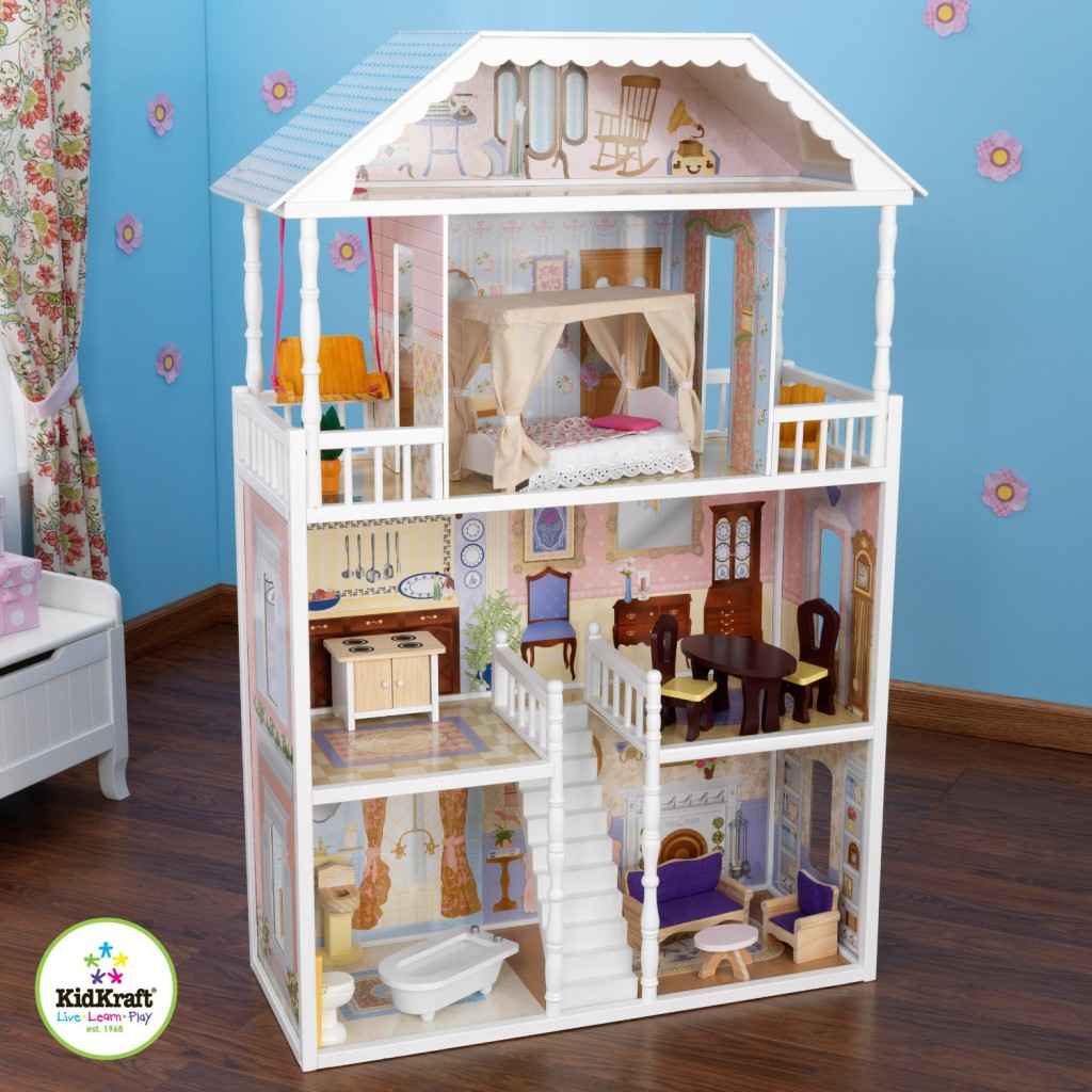 beautiful white dollhouse for girls