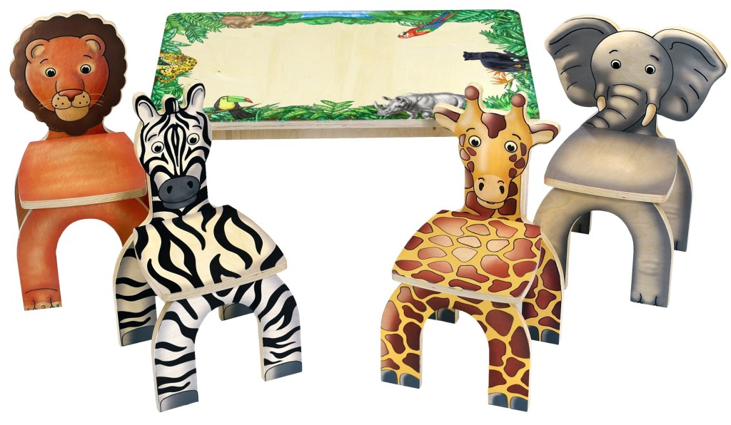 Cutest Safari Table and Animal Chairs