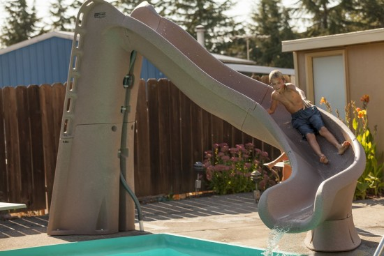 TurboTwister Right Curve Pool Slide, Gray Granite