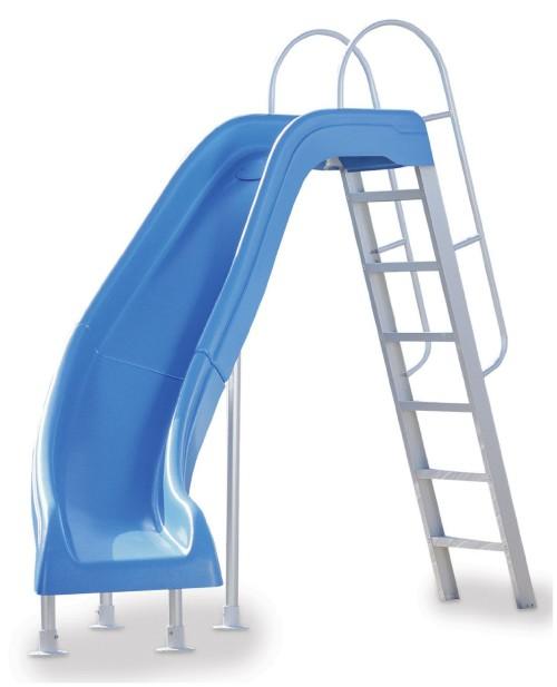 Left Turn Swimming Pool Slide Kit