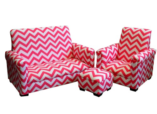 Gorgeous 3 Piece Chevron Toddler Set, Candy Pink