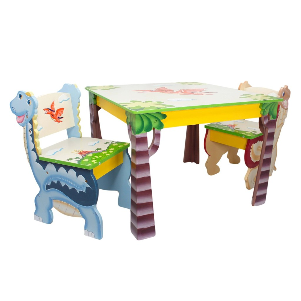 Cute Dinosaur Table And Chairs For Kids