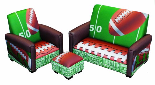 Football 50 Yard Line Toddler Boy Sofa Set