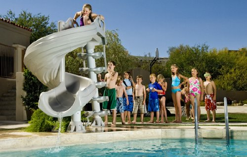 G-Force Summit Gray Pool Slide for Kids and Adults