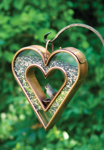Cute Heart Shaped Bird Feeder