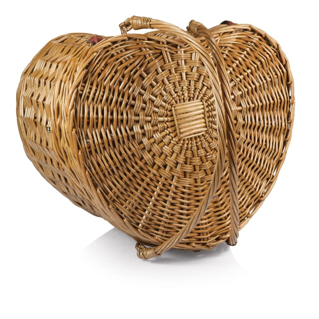 Cute Heart Shaped Picnic Basket