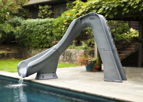 Typhoon Left Curve Pool Slide for Home