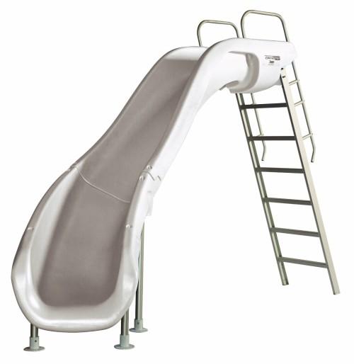 Left Curve White Pool Slide for Sale