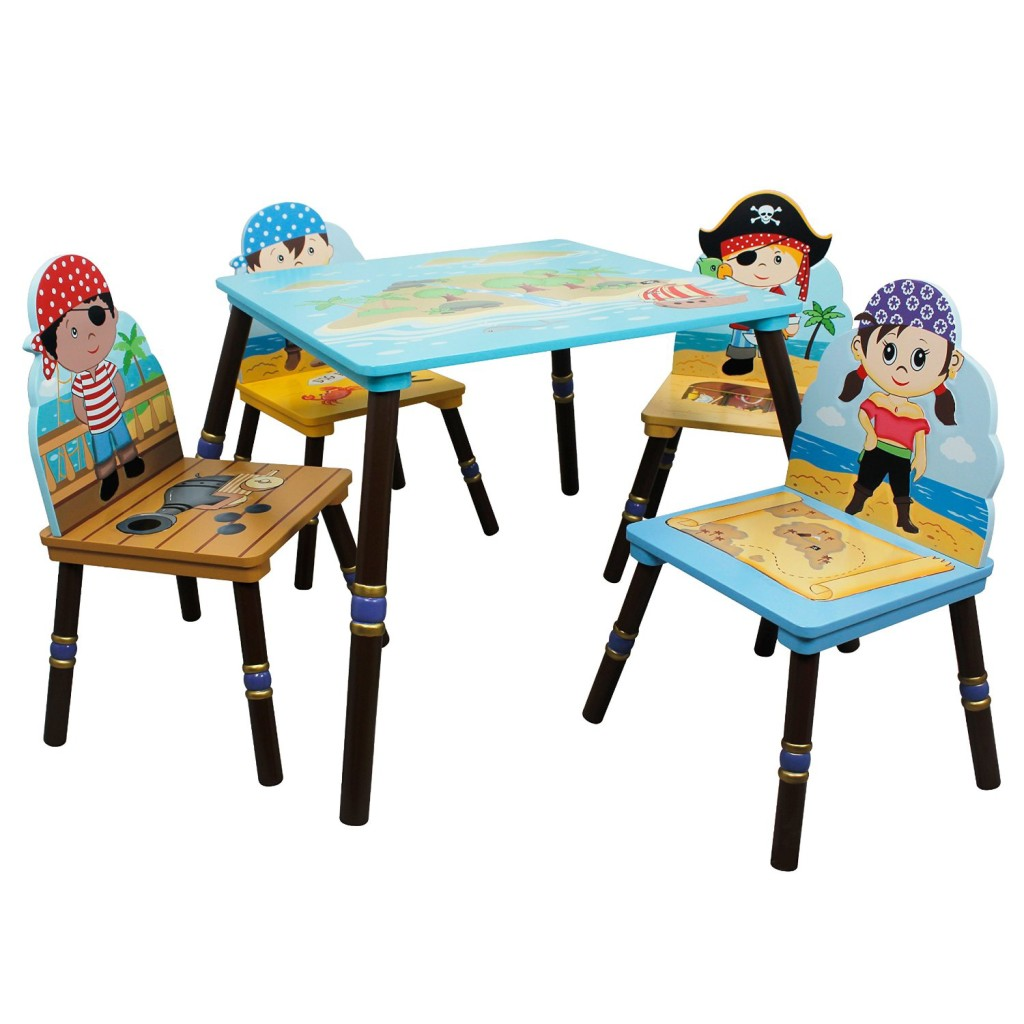 Pirates Island Kids Table and Set of 4 Chairs