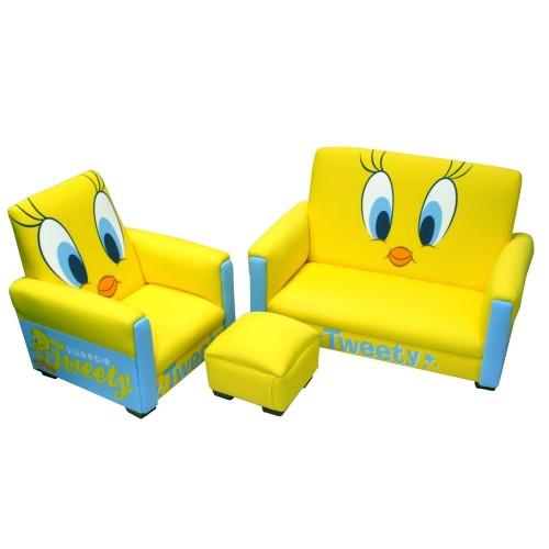 Tweety bird toddler sofa set