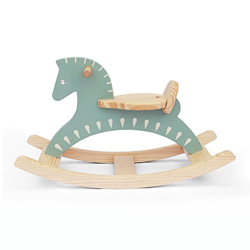 Handmade Wooden Ride On Rocking Horse Sky Blue
