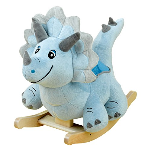 Cute Blue Dinosaur Rocker for Babies