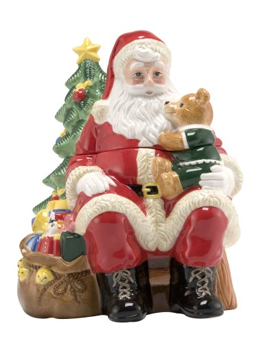 Gorgeous 3D Santa Cookie Jar