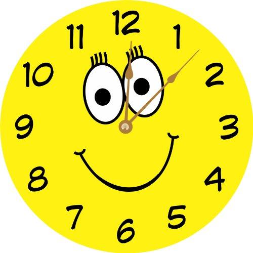 smiley face yellow clock happy smiley face decor: happygabby.com