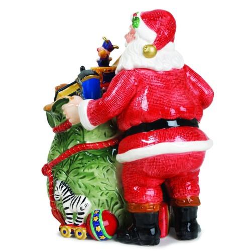 Santa Claus Christmas Cookie Jar