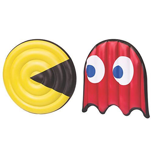 Giant Pac Man & Ghost Swimming Pool Float Set