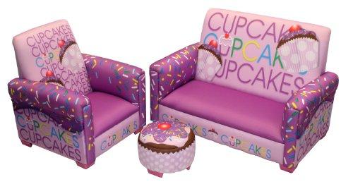 Cute Cupcake 3 Piece Toddler Furniture Set