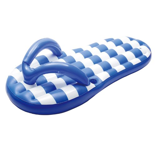 Giant Blue Flip Flop Inflatable Pool Float