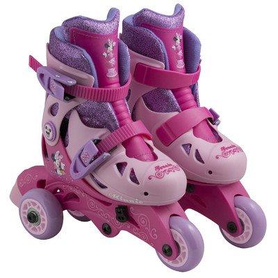 Pink Disney Minnie Convertible 2-in-1 Kids Roller Skates for Girls