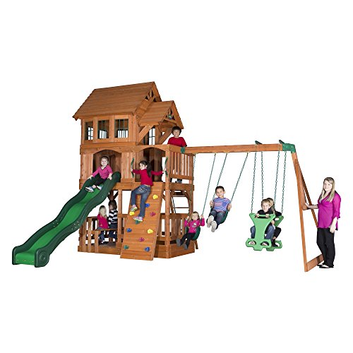 All Cedar Wood Playset