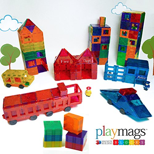 Colorful Magnetic Tiles Deluxe 150 piece Building Set for Boys