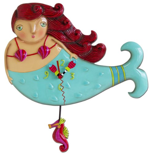 Cute Mermaid Wall Clock