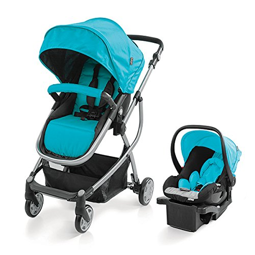 New Baby Boy Blue Stroller and Car Seat