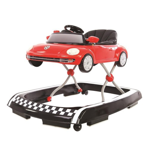 Cute Red Beetle Car Baby Walker