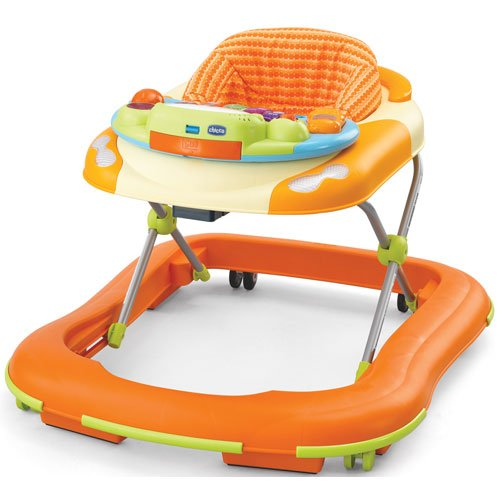 fun orange baby walker