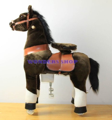 Chocolate Brown Ride On Horse
