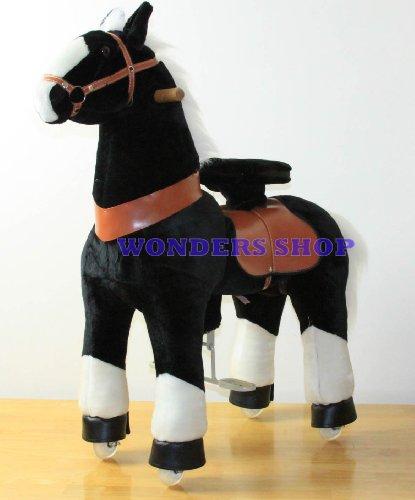 Ride on Black Stallion Plush Horse for Kids