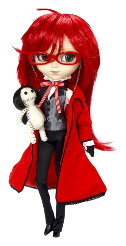 Gorgeous Pullip Doll with Red Hair and Glasses