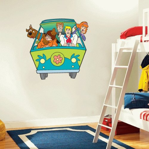 Fun Scooby Doo Mystery Machine Peel and Stick Large Wall Decal