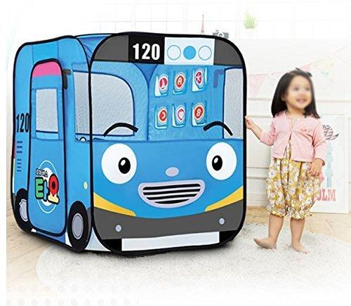 Kids Mini Pop Up Play Tent in Fun Bus Design with Plastic Balls