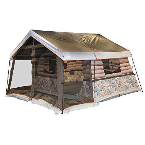 Fun Log Cabin Lodge Tent and Screen Porch
