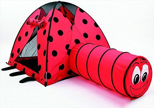 Ladybug Print Tent And Tunnel
