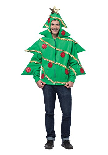 Fun Christmas Tree Hoodie Adult Christmas Sweater