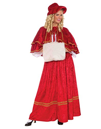 Affordable Christmas Caroler Red Costume Dress