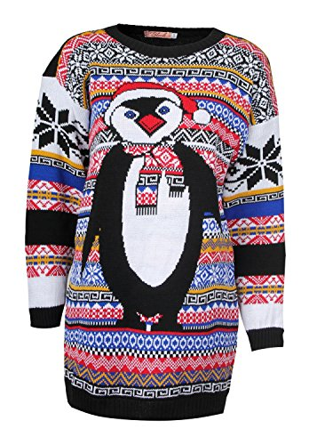 Cute Penguin Christmas Sweater for Women