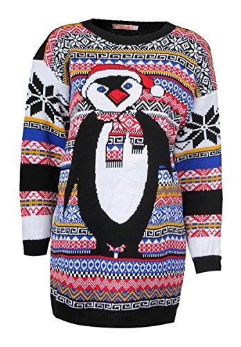 Cute Penguin Christmas Sweater for Women