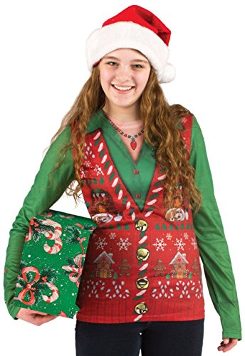 Fun Women's Ugly Christmas Sweater Vest
