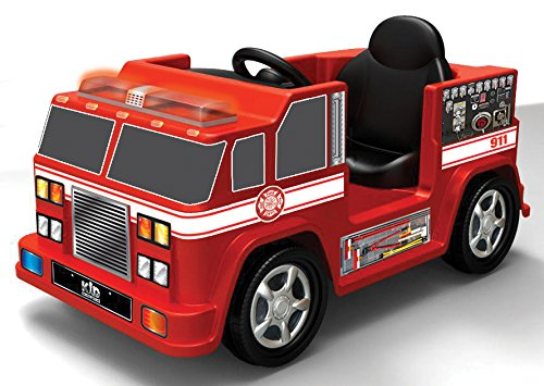 Ride-On Fire Truck for Little Boys