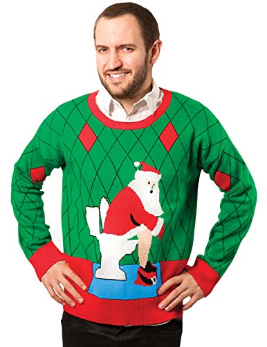 Pooping Santa Christmas Ugly Sweater