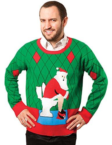 Pooping Santa Christmas Ugly Sweater